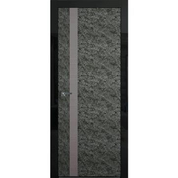Межкомнатная дверь Colorize Rock Wood A с вертикальной вставкой из натурального древесного шпона