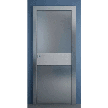Дверь Crescendo Bounty-M-Alter. Матовое серебряное зеркало