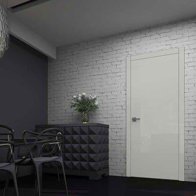 Межкомнатная дверь Glossify Clear White.