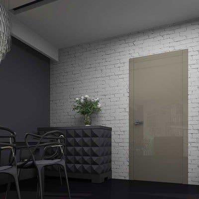 Межкомнатная дверь Glossify Smart Grey в интерьере