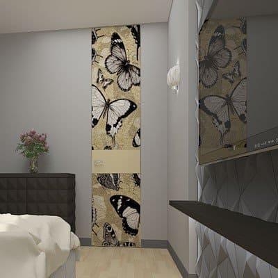 Межкомнатная дверь до потолка модели Snow Mountains Artistica