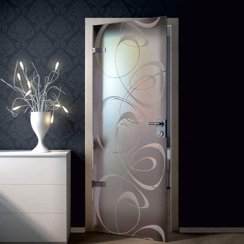 Межкомнатная стеклянная дверь G038