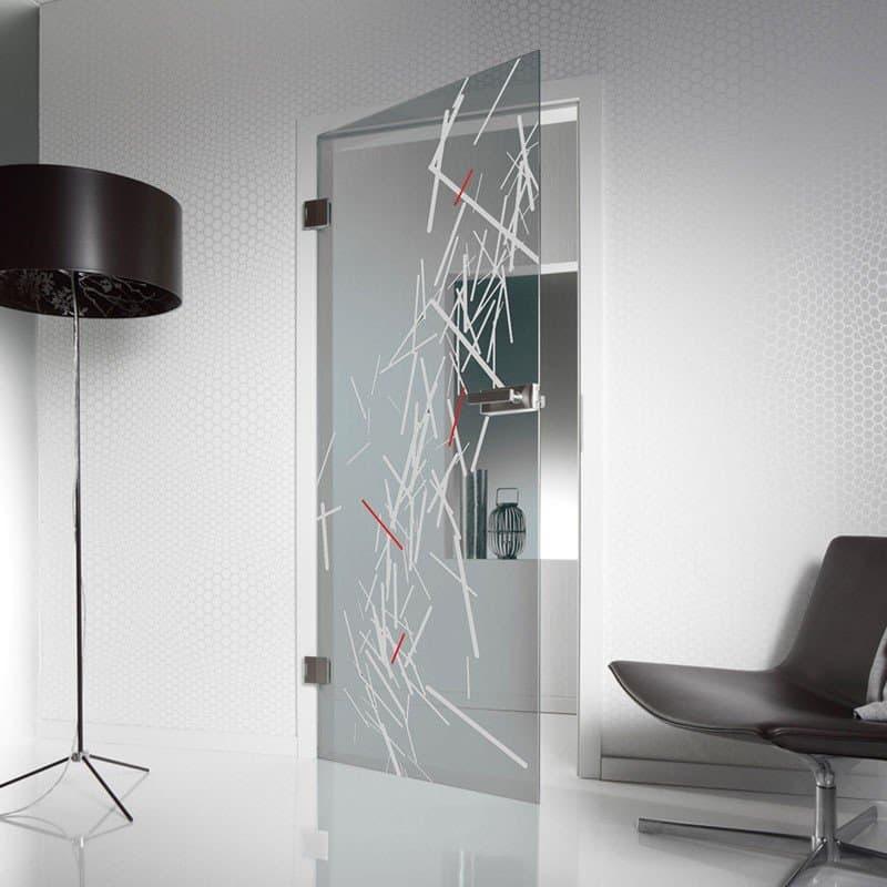 Межкомнатная стеклянная дверь G039