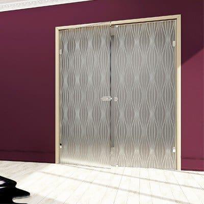 Межкомнатная стеклянная дверь G022