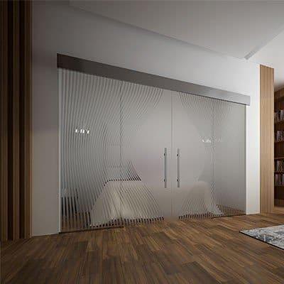 Межкомнатная стеклянная дверь G035