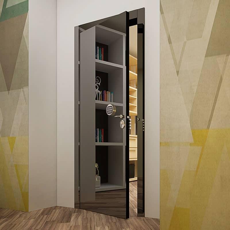 Взломостойкая межкомнатная дверь со стальным листом внутри и электронной системой контроля доступа