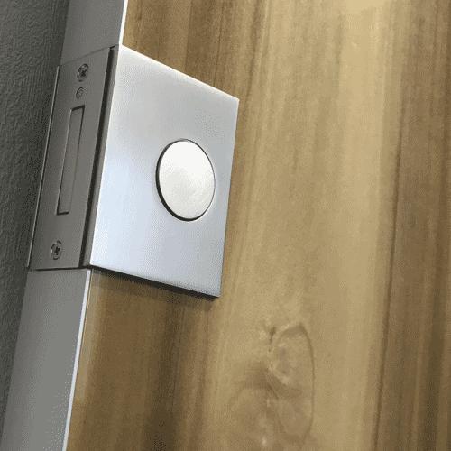 Врезная дверная ручка REZIDENT QUADRUM-S для деревянных дверей
