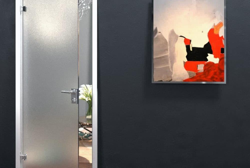 Декоративная металлическая рамка FLOU Rezident Design. Для цельностеклянных дверных полотен